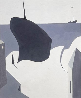 Lot 9 - Andrew LANYON (1947) The Eleonora Aground at...