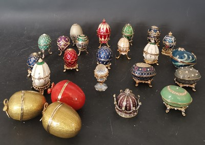 Lot 22 - A collection of miniature decorative enamel...