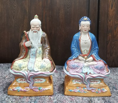 Lot 20 - Two decorative Chinese porcelain figurines,...
