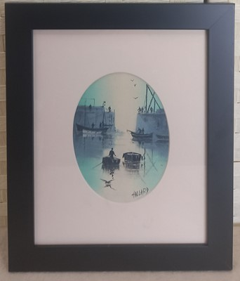 Lot 13 - Nigel HALLARD (1936-2020), Harbour Scene, oil...