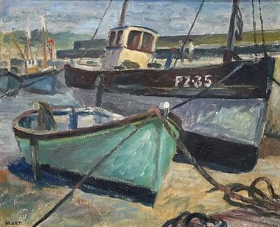 Lot 13 - Marjorie MORT (1906-1989) Old Harbour, Newlyn...