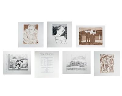 Lot 59 - 'Ten Etchings' A portfolio of ten etchings by...