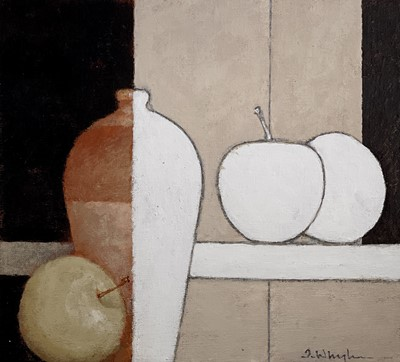 Lot 61 - Terry WHYBROW (1932-2020) Apples and Long Pot...