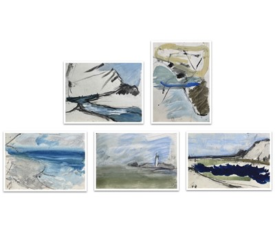 Lot 72 - Dick GILBERT (1935 - 2008) Five small mixed...