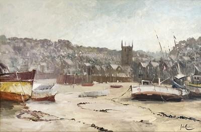 Lot 89 - John AMBROSE (1931-2010) Low Tide, St Ives Oil...