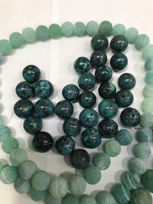Lot 33 - Chinese turquoise beads and other...