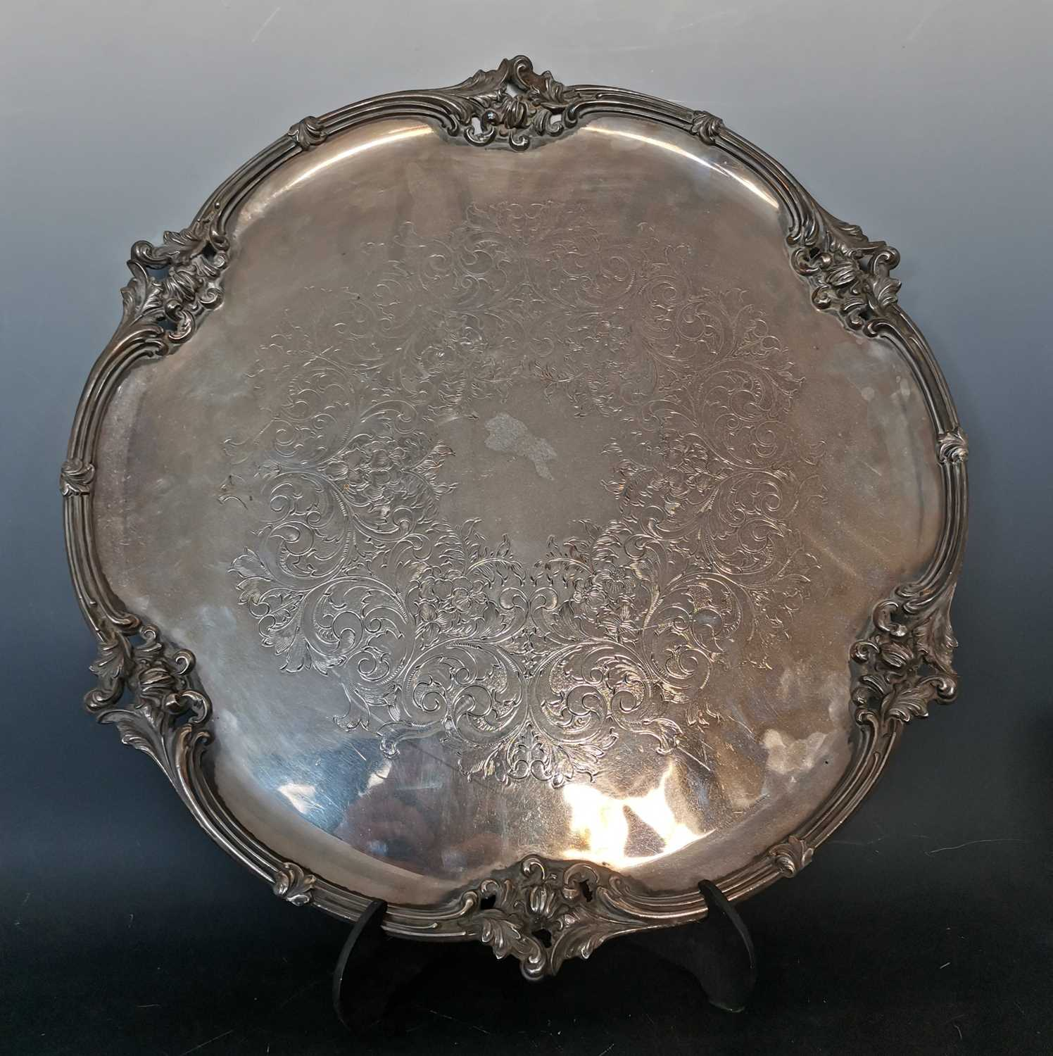Lot 20 - A magnificent salver of exceptional quality,...