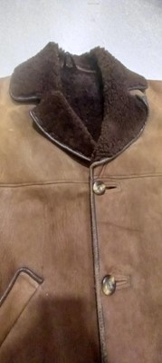Lot 35 - A men's real sheepskin coat, approximate size...