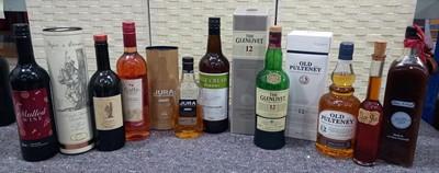 Lot 37 - Old Pulteney 12 year aged malt scotch whisky...