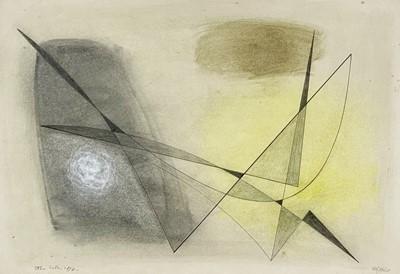 Lot 16 - John WELLS (1907-2000) Untitled, 86/8D Mixed...
