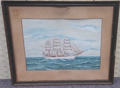 Lot 19 - A study of the steam yacht Valhalla RYS,...