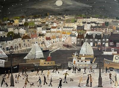 Lot 48 - Alan FURNEAUX (1953) Moonlight Walk, St Ives...