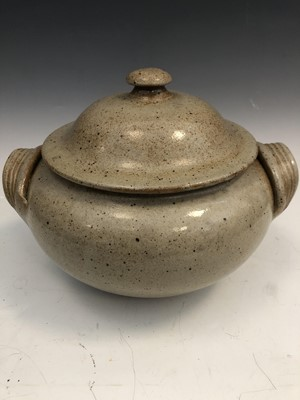 Lot 40 - Studio pottery twin handled tureen and cover,...