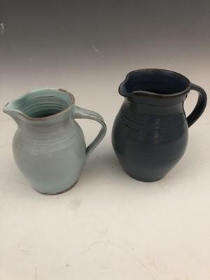 Lot 45 - A studio pottery vase, impressed marks, height...