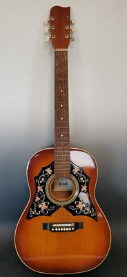 Lot 12 - A 1960s Kay K 345 Western style acoustic...