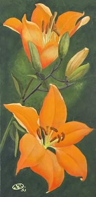 Lot 49 - Ithell COLQUHOUN (1906-1988) Orange Lilies...