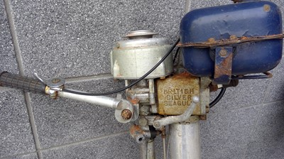 Lot 2 - Outboard motor engine, silver seagull, unknown...