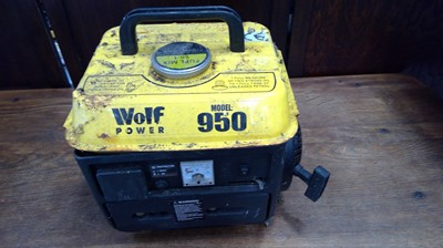 Lot 6 - A black and yellow wolf power 950 petrol...