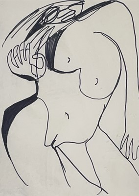 Lot 80 - Peter LANYON (1918-1964) Nude Figure Ink on...