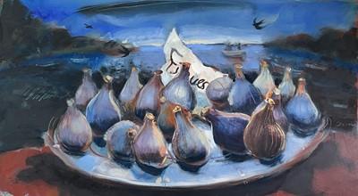 Lot 42 - Nicola BEALING (1963) French Figs, Dark Lake...