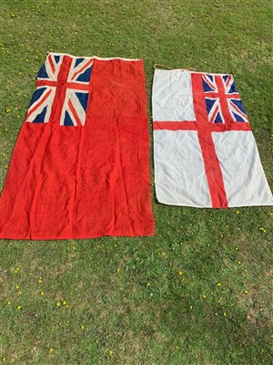 Lot 2-Two British ensign flags.