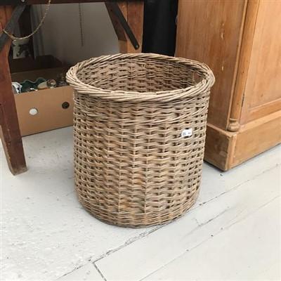 Lot 44-A wicker log basket.