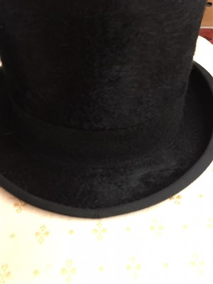 Lot 23-A Fur felt top hat bearing label Lock & Co, St...
