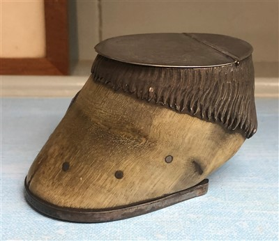 Lot 29-A Victorian silver topped miniature horse hoof...
