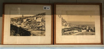 Lot 28-A pair of early photographs of Penberth Cove.