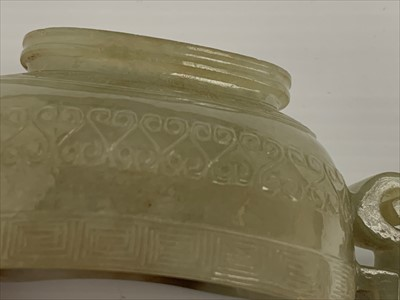 Lot 21-A Chinese carved jade libation cup, possibly...