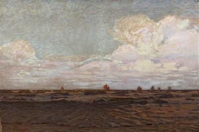 Lot 23-Charles G Beale ADAMS (1862-1939) Dusk Oil on...