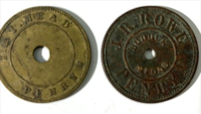 Lot 3 - Cornish Sack Tokens (2)