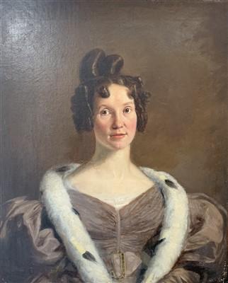 Lot 1-English School, 19th Century Portrait of Maria...