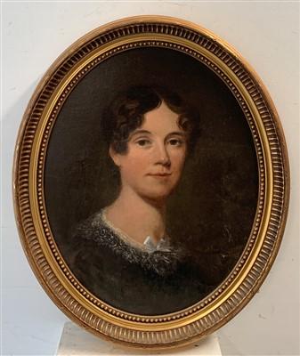 Lot 4-English School, 19th Century Portrait of a Lady;...