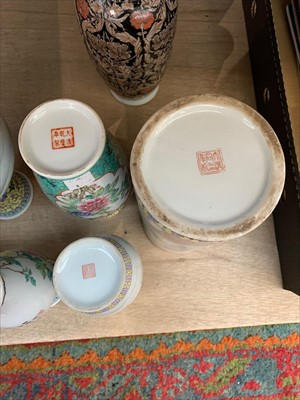 Lot 8-Eight Chinese porcelain vases and a Chinese...